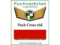 Lack, Puch Cross röd, 1 L